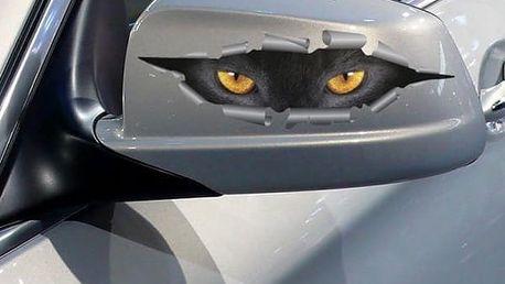 3D samolepka na okno - Kočičí oči - dodání do 2 dnů