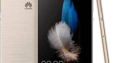 Huawei P8 Lite DS (SP-P8LITEDSGOM) zlatý + Voucher na skin Skinzone pro Mobil CZ v hodnotě 399 Kč jako dárek + Doprava zdarma