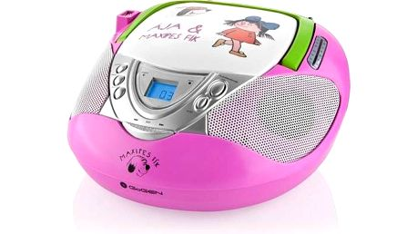 GoGEN Maxipes Fík MAXI RADIO P, CD/MP3/USB růžový