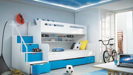 Prvotřídní dětská patrová postel Max 3, PŘEDVÁNOČNÍ AKCE!