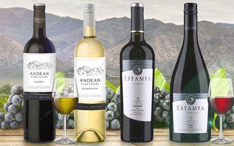 Výběr kvalitních vín z Jižní Ameriky