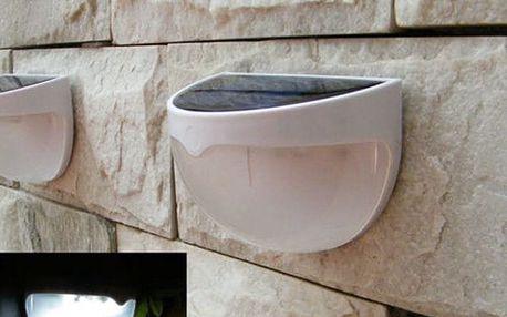 6 LED solární nástěnná lampa - dodání do 2 dnů