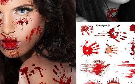 Děsivé krvavé tetování Blood