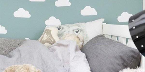 Samolepka na zeď - obláčky - 31 ks - poštovné zdarma