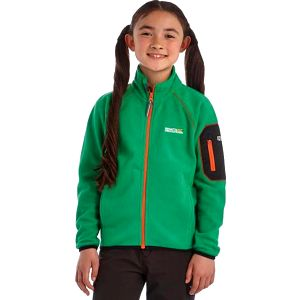 Dětská fleece mikina Regatta RKA152 LEAPER Highland Grn