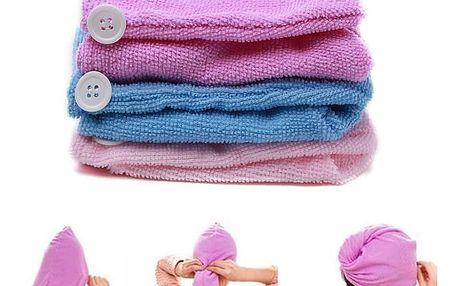 Vysoce absorpční ručník na vlasy z mikrovlákna - fialová - dodání do 2 dnů