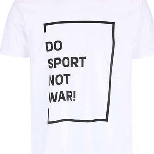 Pánské bílé triko ZOOT Originál Do sport not war