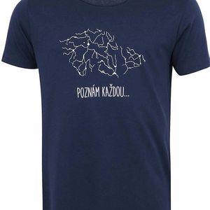 Tmavě modré pánské triko ZOOT Originál Poznám každou