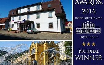 Romantický dvoudenní wellness pobyt v Mariánských lázních plný odpočinku a to v hotelu roku 2016 Karlovarského kraje!