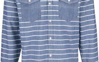 Světle modrá pruhovaná košile Shine Original