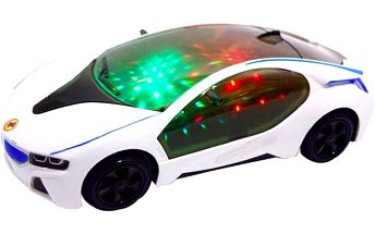 Svítící sportovní autíčko