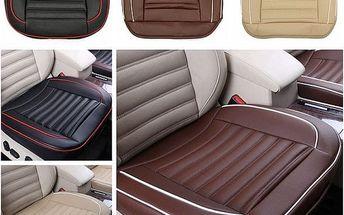 Autopotah na sedadlo s imitací kůže