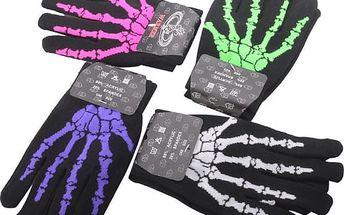 Unisex rukavice s motivem kostry - 4 barvy