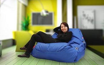 BeanBag Sedací pytel 189x140 comfort s popruhy dark blue