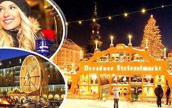 Adventní Drážďany 2016 - sobota či neděle. Výlet na nejkrásnější adventní trhy a slavnost štols kouzelnou vůní Vánoc. Ochutnejte štolu, dejte si 0,5 metrovou klobásu a k tomu svařák, nakupte vánoční dárky a projděte se romantickým historickým centrem.Už