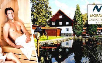 Podzimní romantika v Beskydech v Morávka Resortu pro 2 osoby na 3 dny. Polopenze, vnitřní bazén se slanou vodou, sauna amnoho dalšího. Zabaví se i děti. Nádherná příroda, cyklistika, výlety.