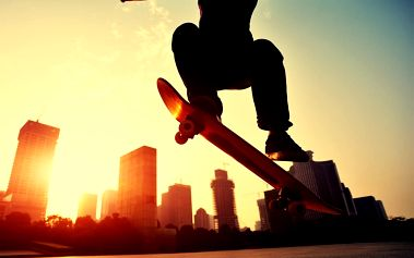 1Wall fototapeta Skateboardista 315x232 cm