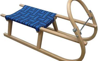 sáně 95 cm dřevěné - modré