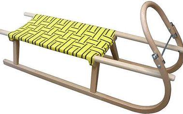 Sáně 110cm dřevěné 05-A2041 - žluté
