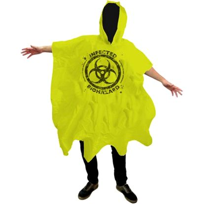 Pláštěnka pončo Zombie biohazard