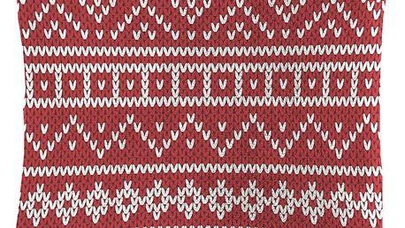 Dekorační polštářek Mistral Home beránek Knitting červená 40x40 cm
