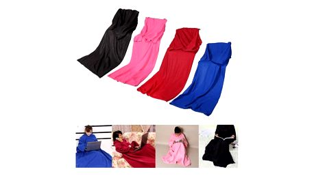Hřejivá deka s rukávy - 4 barvy