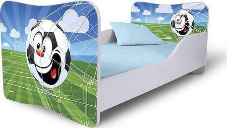 Dětská postel se zábranou Fotbalový míč