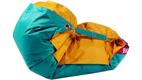 BeanBag Sedací pytel 189x140 duo golden - sea green