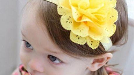 Čelenka s květinou pro děti