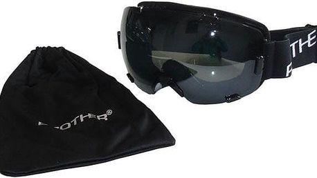 Lyžařské brýle Brother s velkým zorníkem - černé