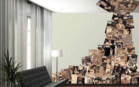 1Wall Kreativní koláž 64 dílů 37,5 x 27,5cm časopis LIFE sépie