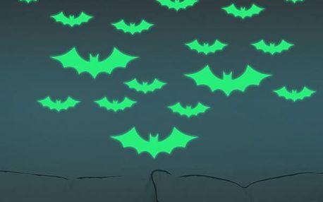 Halloweenské svítící samolepky na zeď - 2 varianty