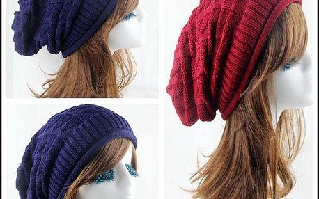 Dámská háčkovaná čepice ve více barvách