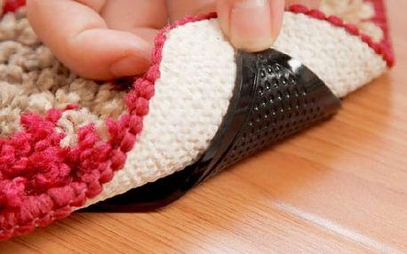 Protiskluzové podložky pod koberec v černé barvě - 4 kusy - dodání do 2 dnů