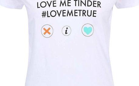 Bílé dámské triko ZOOT Originál Love Me Tinder
