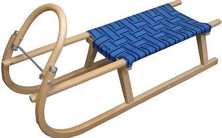 Sáně 110cm dřevěné - modré