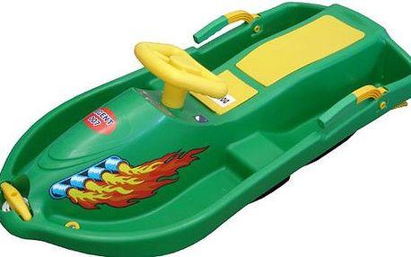 Snow Boat řiditelná bob - zelený