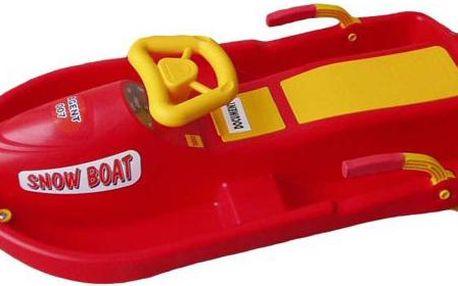 Snow Boat řiditelný bob - červený