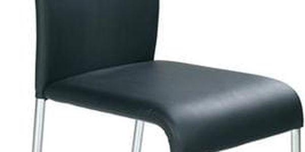 Kovová židle K138 černá