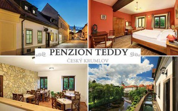 Ubytování se snídaní na 3 až 5 dní pro 2 osoby ve zrekonstruovaném Penzionu Teddy v Českém Krumlově