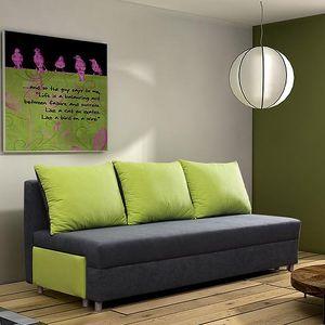 Čalouněná pohovka RITA s úložným prostorem; polštáře zdarma
