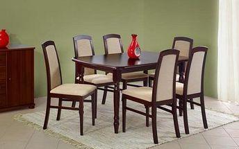 Dřevěný jídelní stůl Arnold s přírodní dýhou olše
