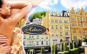 Karlovy Vary: lázeňský pobyt na 3 dny pro dva ve 4* hotelu Heluan, polopenze, masáž a další