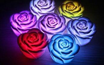 LED lampička v podobě růžičky - různé barvy - poštovné zdarma