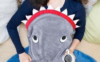 Plyšová deka Žralok