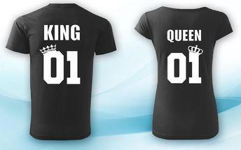 Párová trička King & Queen
