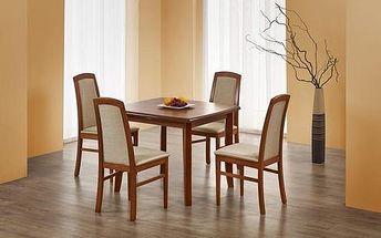 Dřevěný jídelní stůl Florian tmavý ořech