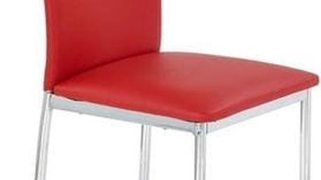 Kovová židle K137 červená