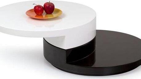 Konferenční stůl Madeleine bílá-černá