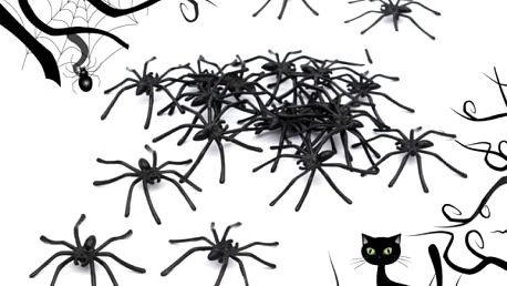 Sada černých pavouků - poštovné zdarma